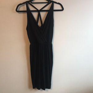 Cynthia Rowley little black dress cross back